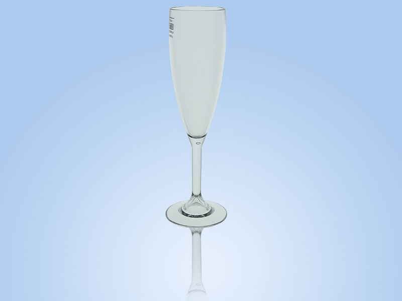 reusable plastic cup elite champagne flute