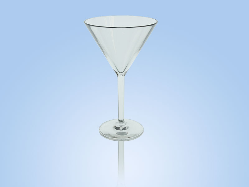 reusable plastic cup elite martini glass