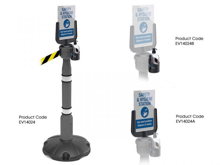 A4 Sign holder for retractable queue system
