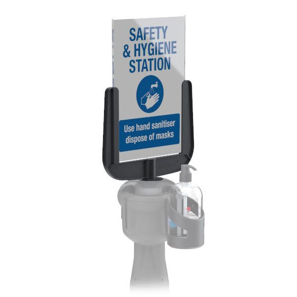 Bottle Holder For Retractable Queue System Post