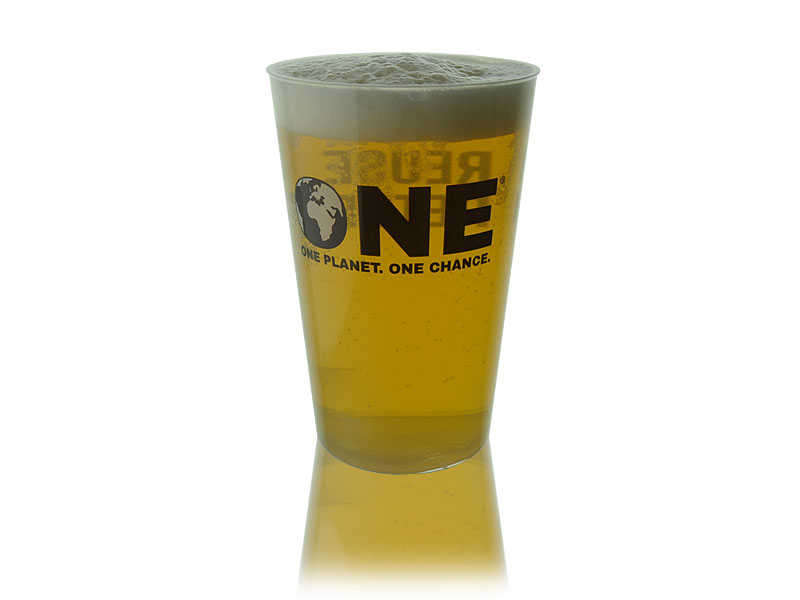 Official ONE Polypropylene Reusable Pint To Brim (20oz) 1